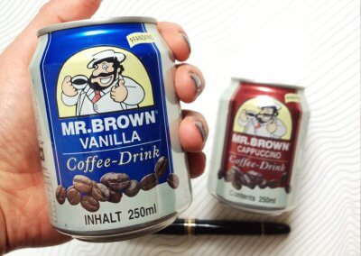 Kreative Ideen KUNST – MR.BROWN COFFEE DRINK VANILLA, CAPPUCCINO