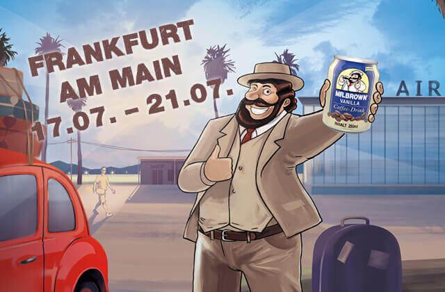 MR.BROWN Caffe Latte, Caffe Mocha, Cappuccino, Vanilla und Classic in Frankfurt probieren.