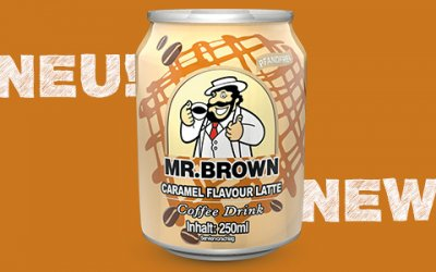 Neu und superlecker: MR. BROWN Caramel Coffee Drink